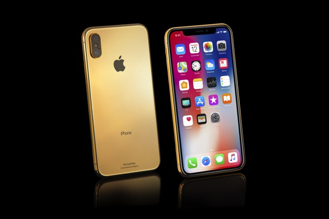 IPhoneX Gold Elite standing