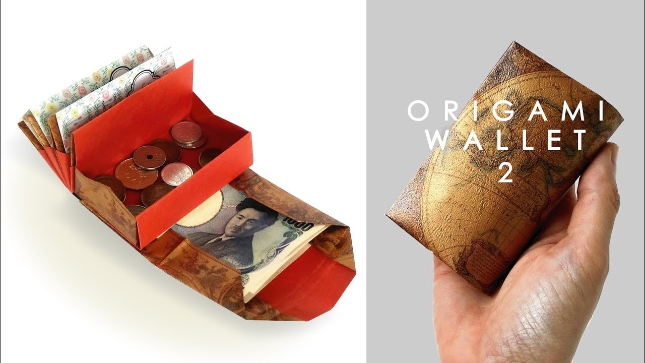 キャッシュレス時代に最適?お札も小銭もカードも入る「折り紙の財布」がヤバすぎ