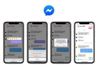 Facebook Messenger「送信取り消し機能」の使い方、10分以内であればメッセージをなかったことに