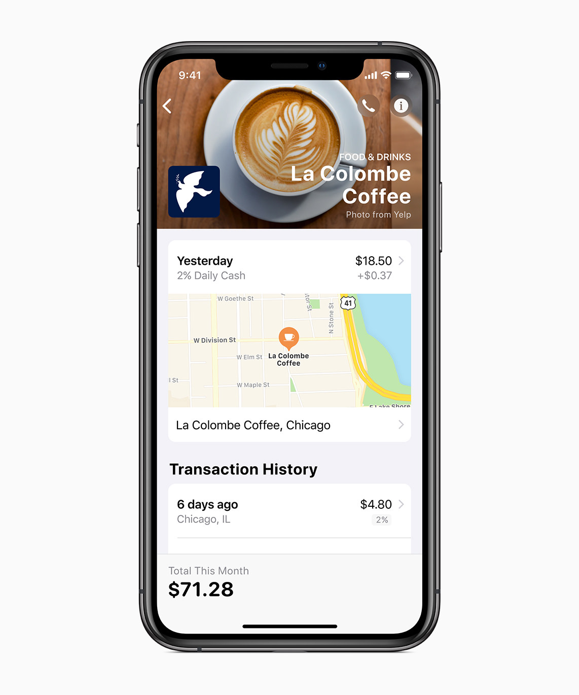 Apple-Card_iPhoneXS-La-Colombe-Coffee_032519
