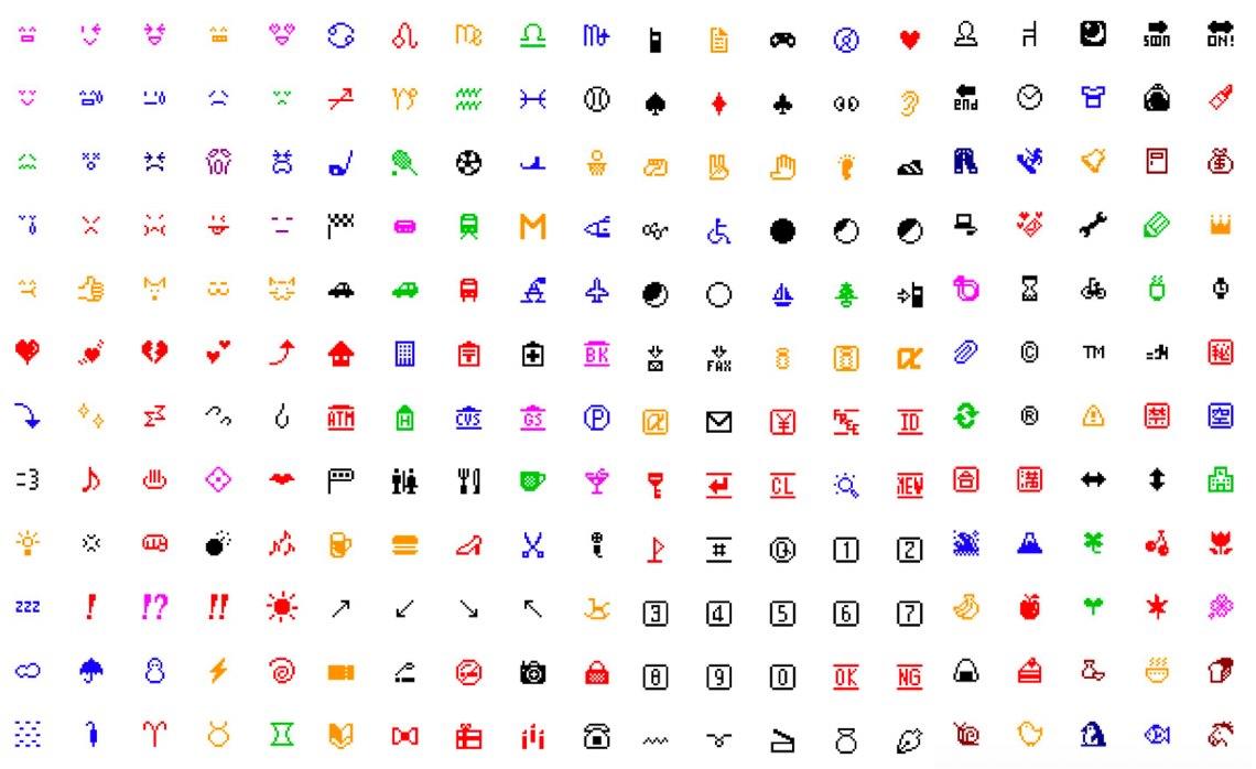 懐かしすぎる「ドコモ絵文字」がLINE絵文字になって登場、元祖絵文字はMoMAにも収蔵