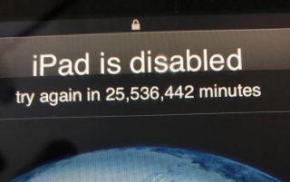 3歳の子どもがiPadのパスコードを連続ミスしロック→iPad「48年後にやり直して下さい」
