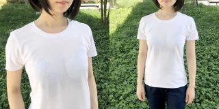 うっすらと胸の谷間が透けてる「妄想Tシャツ」誕生、ムキムキ男性向け妄想マッピングも
