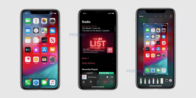 「iOS 13」のスクリーンショット画像が流出、新しい「リマインダーアプリ」や「ダークモード」などが判明