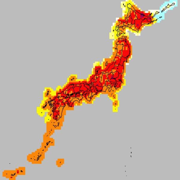 「極めて危険な暑さ」25日の最高気温 東京は32℃、北海道北見や福島は36℃を超える予想