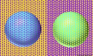 「青い球体と緑の球体は同じ色です」同じ色なのに違う色に見えるムンカー錯視が再び話題に