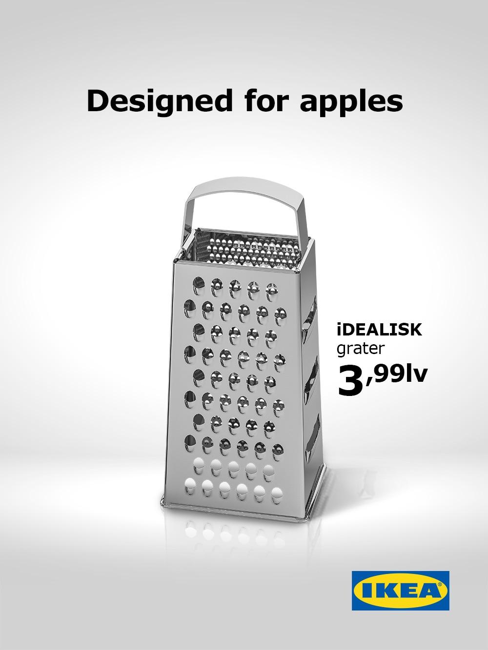 IKEA、新型Mac Proをからかう「おろし金」広告が登場――「リンゴのためのおろし金、価格は250円」