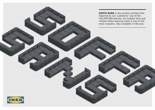 """IKEA、ソファで作った""""世界で最も快適なフォント""""「SOFFA Sans」を公開"""