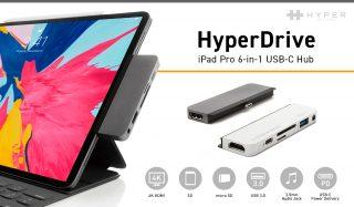 国内外のクラファンで約2億5千万円以上を集めたiPad Pro専用USB-Cハブ「HyperDrive」が日本で正式発売