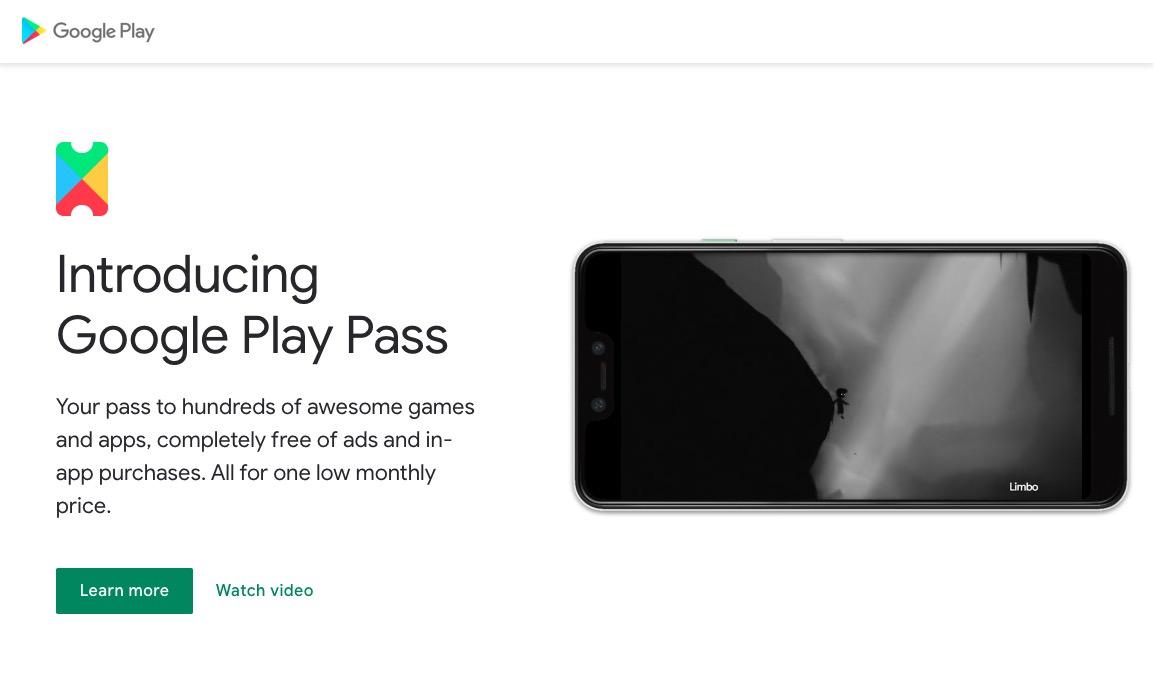 Google、ゲームとアプリのサブスク「Play Pass」提供へーー月額4.99ドルでまずは米限定