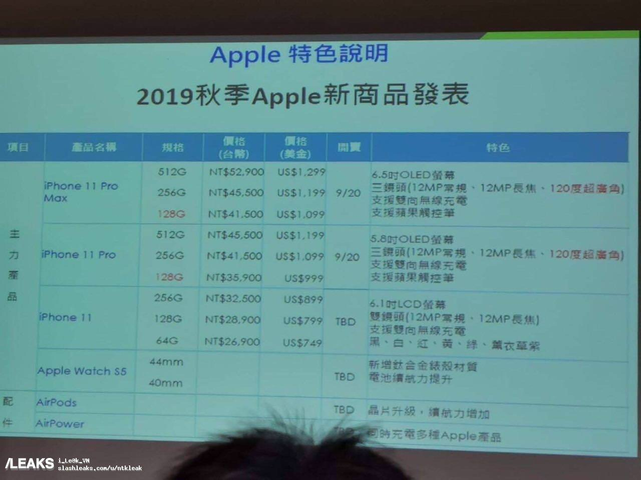 「iPhone 11」シリーズの価格やストレージ容量が判明?台湾の携帯電話キャリアから流出か
