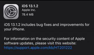 「iOS 13.1.2」「iPadOS 13.1.2」配信開始、カメラが作動しない不具合などを修正