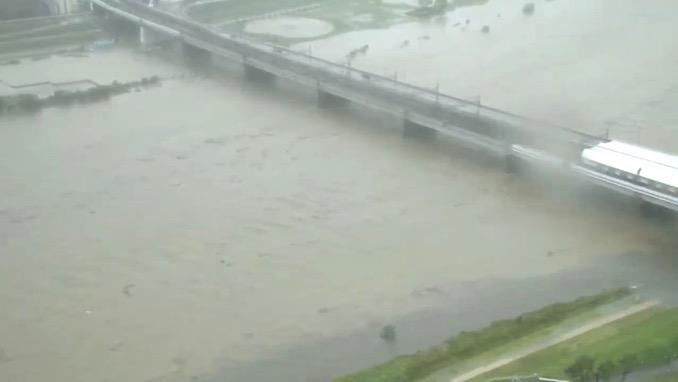 【台風19号】多摩川、警戒レベル3相当情報 Twitterで多摩川の様子を報告するツイート多数