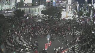 【ライブ映像】渋谷ハロウィン「センター街」激混み、スクランブル交差点では警察が厳戒警備
