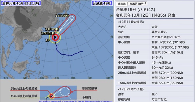 台風19号「ストームライダーで遭遇するストームより強い」規模の大きさがよくわかるツイートまとめ