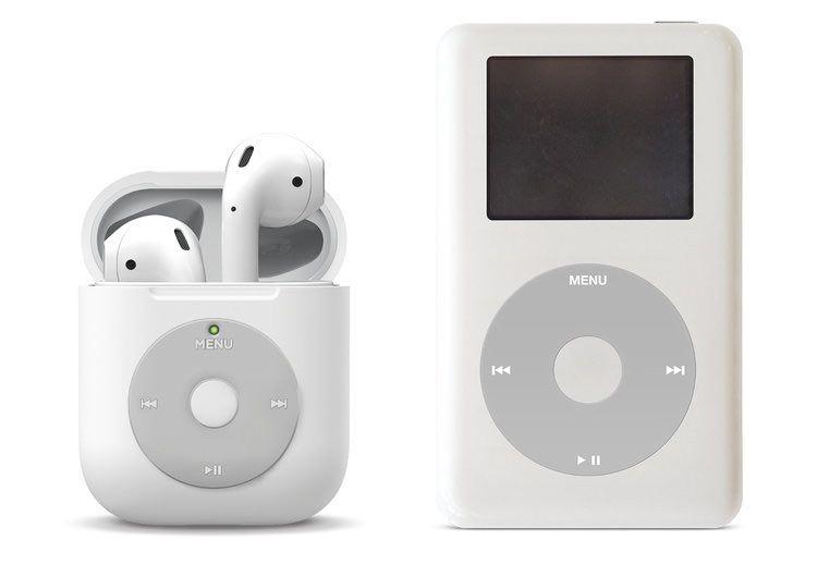 iPod Classic風のAirPodsケースがめちゃくちゃ可愛い、レトロMac風のAirPodsケースもいい感じ