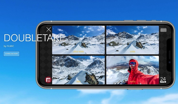 iPhoneの2つのカメラで同時撮影できるアプリ「DoubleTake BY FILMIC PRO」が無料公開