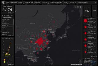 新型コロナウイルス、世界中の感染状況をほぼリアルタイムに確認できるマップが公開
