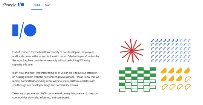 「Google I/O 2020」オンライン開催も中止、「開発者、従業員、地域社会の健康と安全への配慮」