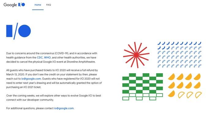 「Google I/O 2020」現地開催をキャンセル、数週間以内に別の方法を探る