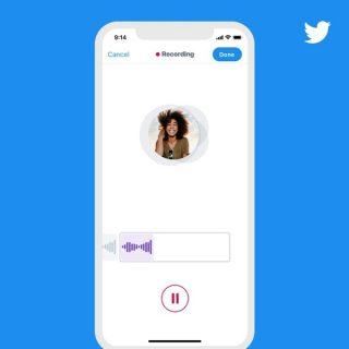 Twitter、音声ツイートを提供開始。1ツイート最大140秒、約58分まで自動でスレッド化