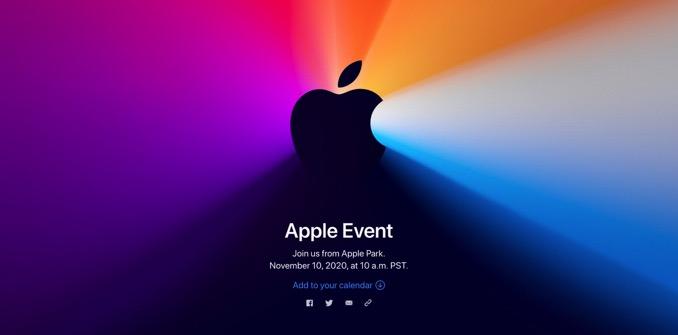 Apple、11月11日にスペシャルイベント開催 Appleシリコン搭載Macを発表へ