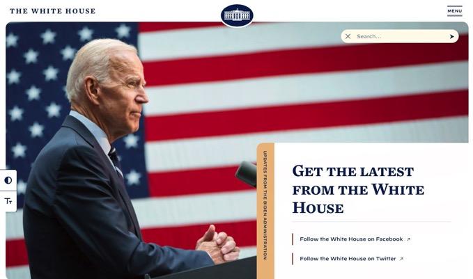 ホワイトハウス公式サイトにイースターエッグ、バイデン氏が大統領就任でリニューアル