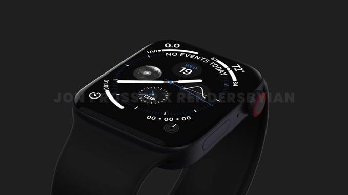 「Apple Watch Series 7」リーク情報から作成されたイメージ画像