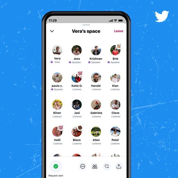 Twitter、音声配信「スペース」を正式公開。フォロワー600人以上のユーザー限定