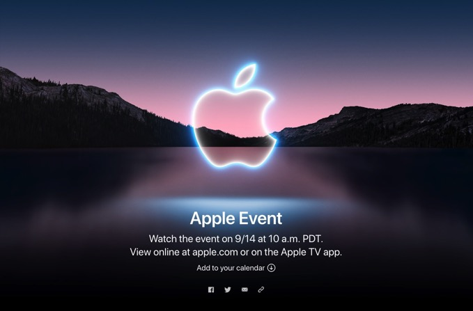 「iPhone 13」発表イベント、日本時間9月15日午前2時より開催と正式発表