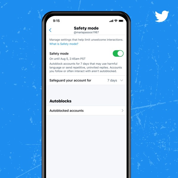 Twitter、侮辱を繰り返すアカウントを自動ブロックする「セーフティーモード」を提供開始